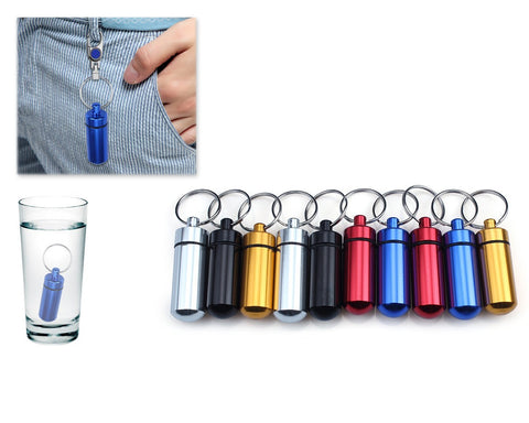 Portable Pill Case Keychain 10 Pieces
