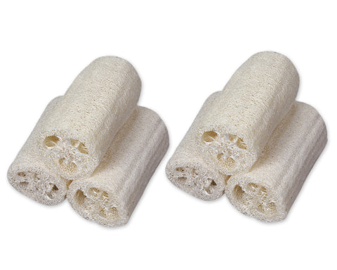 Natural Loofah Sponge 6 Pieces Exfoliating Bath Scrubber with String