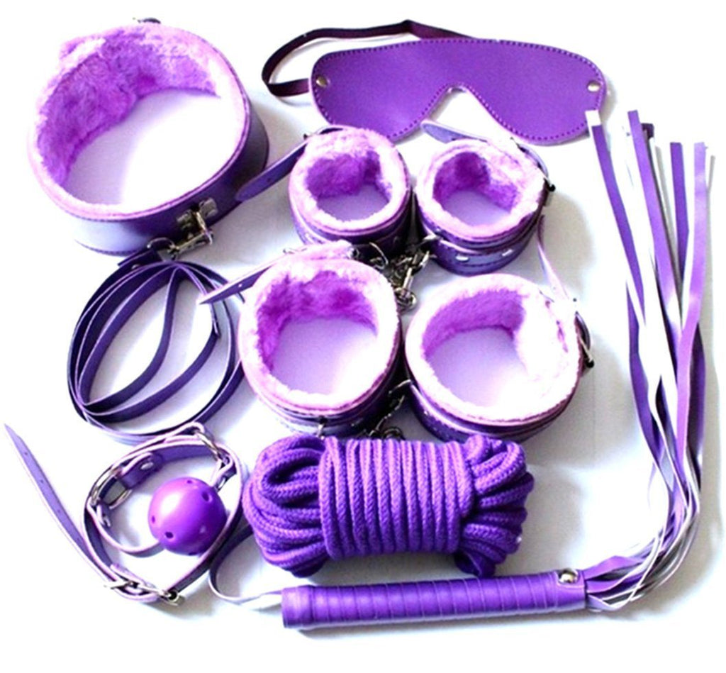 Adult SM Bondage Set with Sex Whip Set of 7