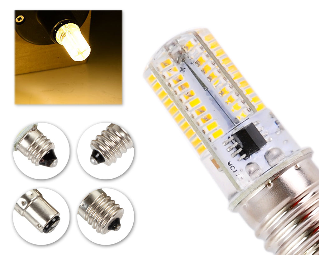 4W Dimmable LED Light Bulb Silicone Corn Light AC 220V - Warm White
