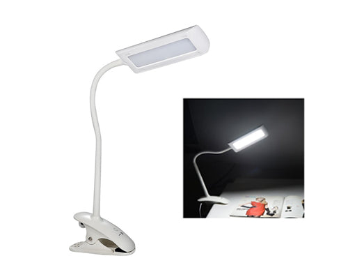 7W 3 Level Adjustable Brightness Touch Sensor LED Desk Lamp with Clip