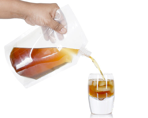 Concealable Alcohol Bags 6 Pieces Plastic Flasks with Plastic Funnel