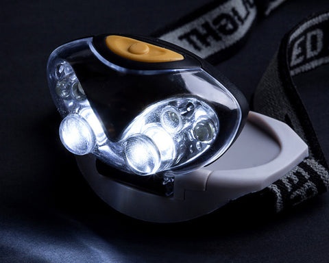 Adjustable Headlamp with White and Red LED Light