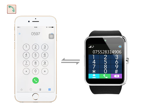 Bluetooth Smart Watch Phone w/Camera Sim Card Slot for Android