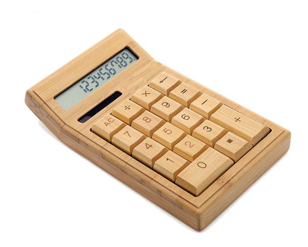 Bamboo Solar Calculators with 12-digit Large Display