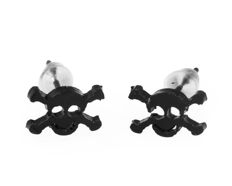 3 Pairs Skull Stainless Steel Stud Earrings for Men