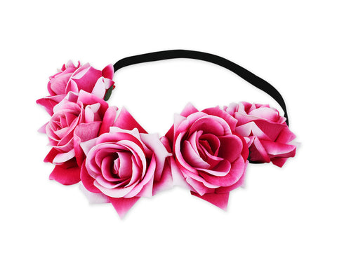 Flower Headband for Maternity Floral Rose Crown for Wedding