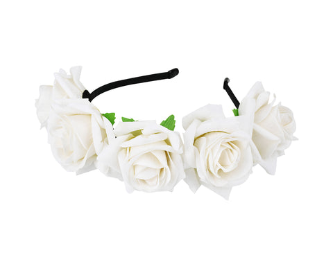 Flower Headband for Maternity Floral Rose Headpiece for Wedding