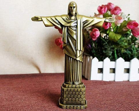 7 Inch Metallic Statue of Jesus Figurine