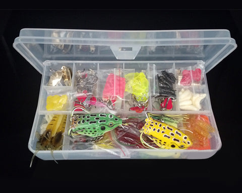 Fishing Lures Set 109 Pcs Fishing Baits Kit Set with Fishing Tackle Box