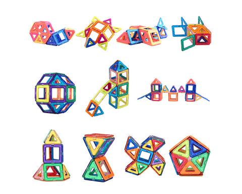Magnetic Blocks 40 Pcs Magnetic Building Blocks Building Tiles Blocks