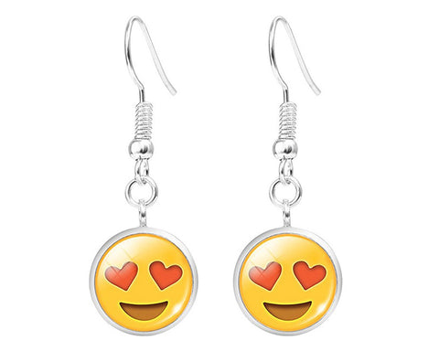 3 Pairs Emoji Face Drop Earrings for Women