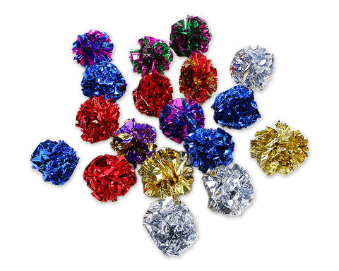 Crinkle Ball Cat Toy 12 Pieces 1.8 Inches Mylar Cat Balls