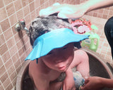 Baby Shower Cap Adjustable Baby Bath Hat with Ear Protection