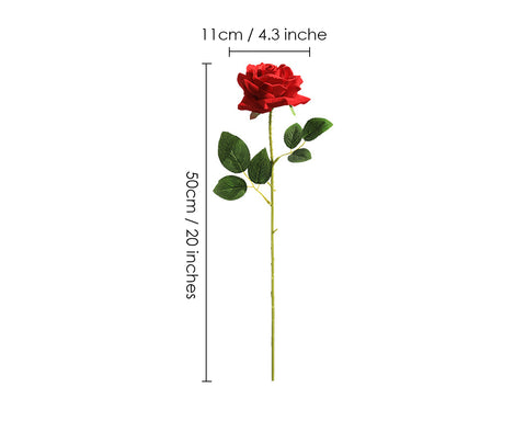 Artificial Flowers 10 Pieces Artificial Rose for Home Decoration - Red