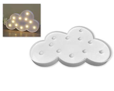 3D Cloud Marquee Sign LED Light for Home Decoration - White