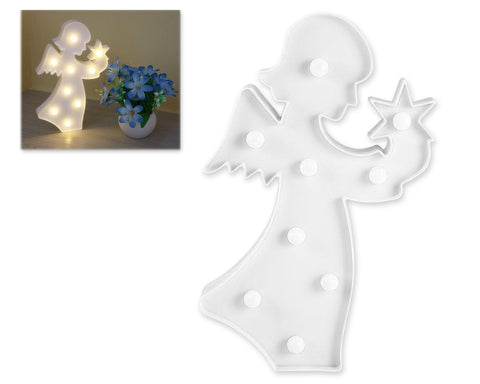 3D Angel Marquee Sign LED Light for Home Decoration - White