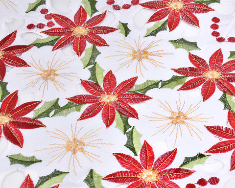 15 x 70 Inch Christmas Embroidered Table Runner