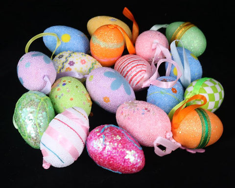 Easter Eggs 12 Pieces Easter Decorations 2.3 Inches Foam Fake Eggs