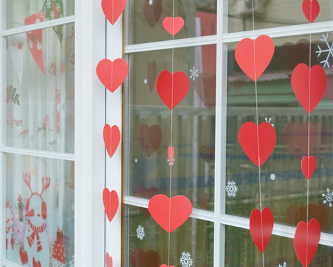 Heart-Shaped Garland Set of 6 Hanging Decoration