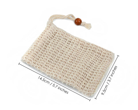 Soap Bag 10 Pieces Natural Sisal Soap Saver Bags with Drawstring