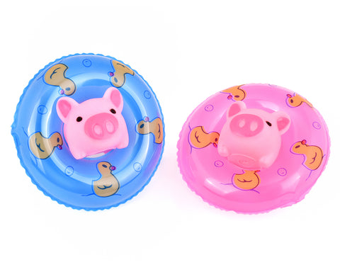 Rubber Bath Toy Set of 20 Mini Swimming Rings and Baby Pigs