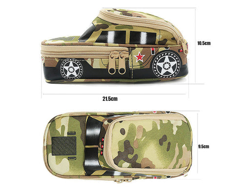 Car Pencil Case Set with 6 Pieces Tank Shaped Pens