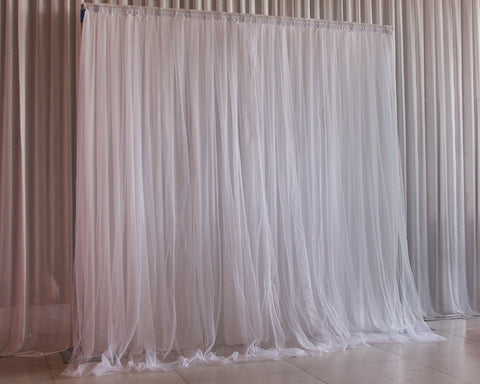 6.5 x 6.5 Feet Tulle Photography Backdrop