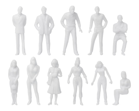 Unpainted Figures 1:50 Scale 100 Pieces Assorted Poses Miniature People