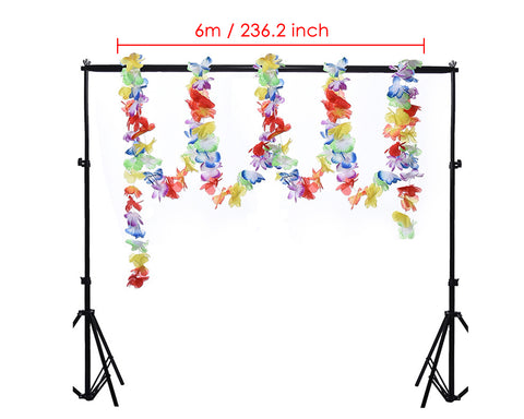 Hawaiian Flower Lei Garland 6 Meters 4 Pieces Luau Party Decorations