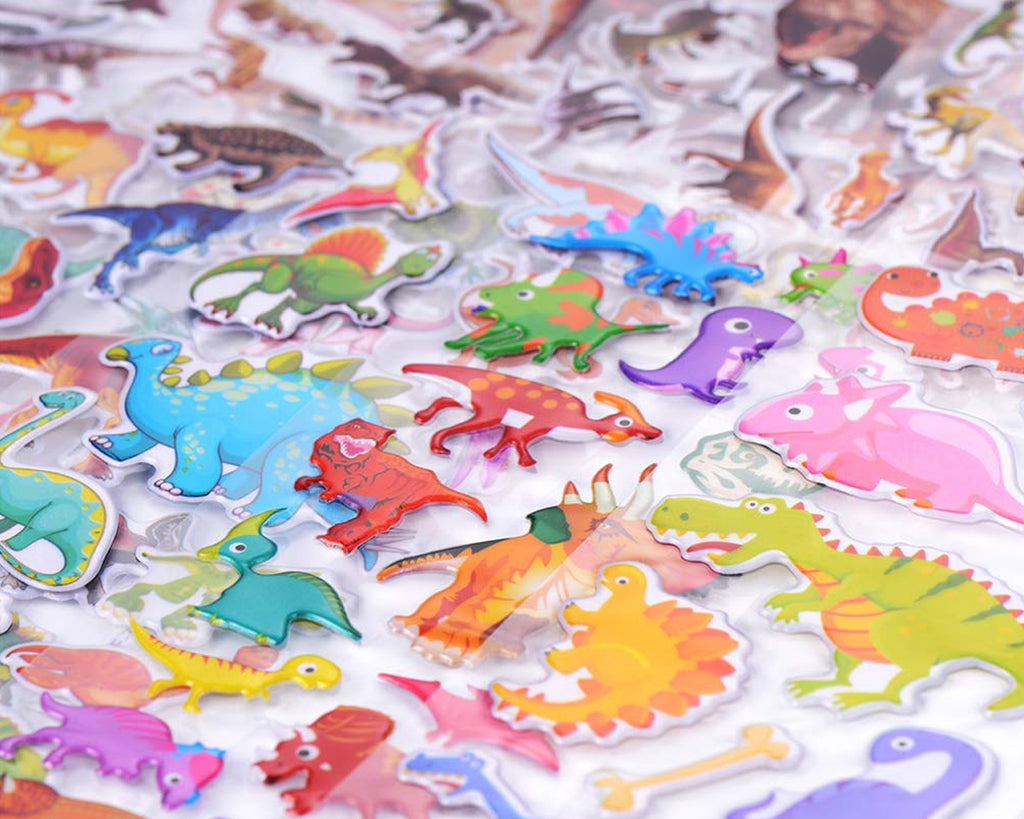Dinosaur Stickers for Kids 50 Pieces 3D Puffy Stickers