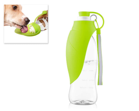 Dog Water Bottle with Silicone Lid