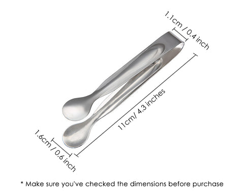 Sugar Tongs 12 Pieces 4.3 Inches Stainless Steel Ice Tongs