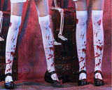 Elastic White Bloody Stockings Set of 2 Zombie Costume