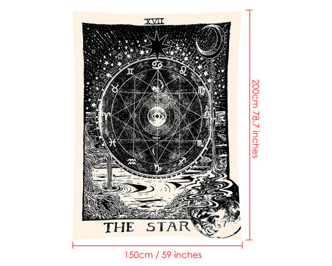 Wall Tapestry 78.7 Inches x 59 Inches Tarot Tapestry for Home Decor