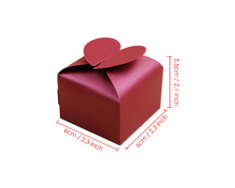 Wedding Favor Boxes 50 Pieces Paper Candy Boxes Gift Boxes