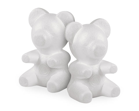 Styrofoam Bear Mold 2 Pieces Foam Bear for Flower Arrangements