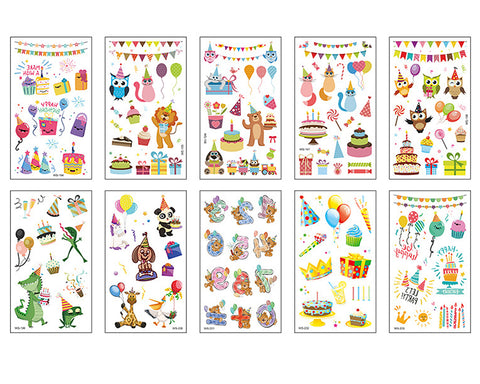 Temporary Tattoos 10 Sheets Waterproof Tattoo Stickers for Kids