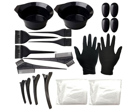 Hair Dye Tools Set of 22 Hair Coloring Brushes and Bowls Kits