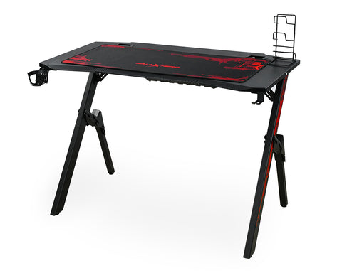 Ergonomic Gaming Desk 43.3 Inches R-shaped Computer Desk