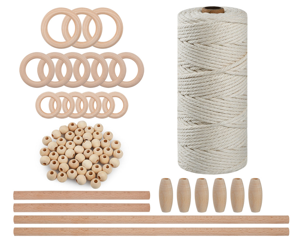 Macrame Kit 3 Millimeters x 109 Yards Macrame Cord for Plant Hangers