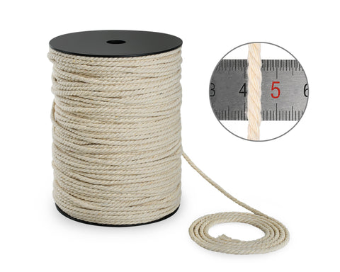 Macrame Cord 4 mm x 218 Yards Cotton Macrame Rope for Craft Projects