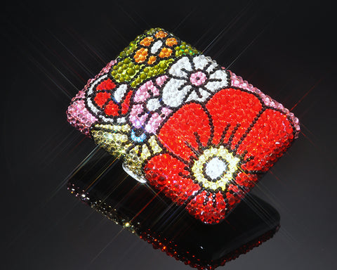 Sweet Bouquet Swarovski Crystallized Cigarette Case