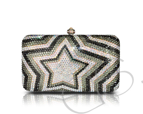 Twinkle Star Crystal Clutch Bag - 14cm