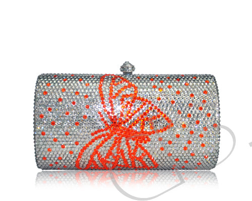 Bello Butterfly Crystal Clutch Bag - 14.5cm