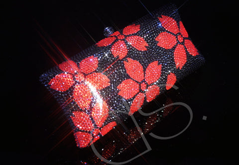Crimson Rose Crystal Hand Bag - 19.6cm