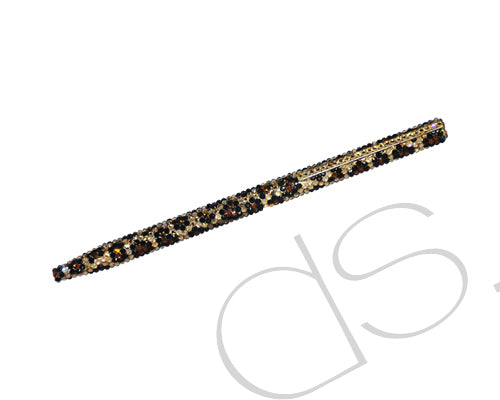 Leopardo Swarovski Crystallized Long Ball Pen - Gold