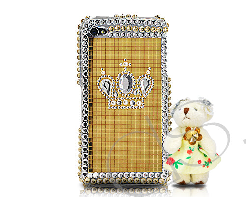 Decora Series iPhone 4 and 4S Crystal Case - Special Bear Gold