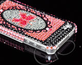 Decora Series iPhone 4 and 4S Crystal Case - Mirror Butterfly