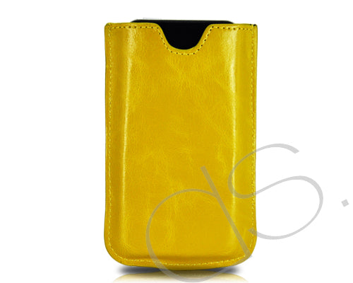 Droit Series iPhone 4 and 4S Leather Case - Yellow